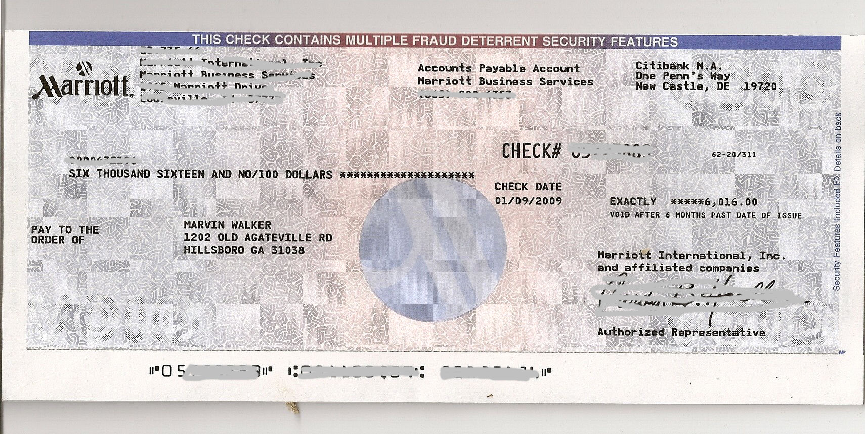 How to write a check for over a thousand (1000) dollars